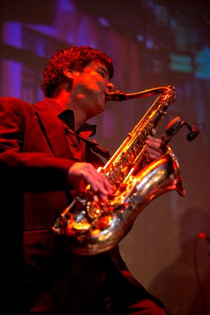 Sax player JT Platt